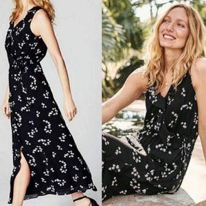 NWT J.Jill Floral Faux Wrap Ruffle Maxi Dress